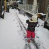 雪かきをしてみたけれど
